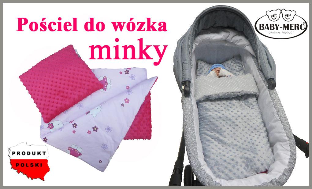 Dwustronna Pościel Do Wózka Minky Baby Merc Babymerc